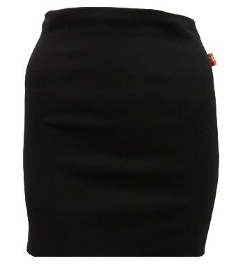 7435a19a9 Miss Sexies Girls Black Mini School Skirt Womens Black Short Stretchy Skirt  6-16: Amazon.co.uk: Clothing