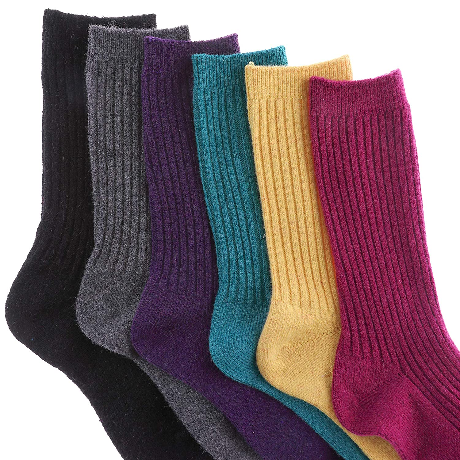 MIUBEAR Newborn Baby Girl Boy Toddler Cable Knit Knee High Wool Socks 6 Pack 0-9 Year Old
