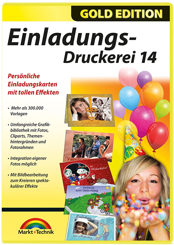 Einladungs Druckerei 14 Gold Edition Amazon De Software