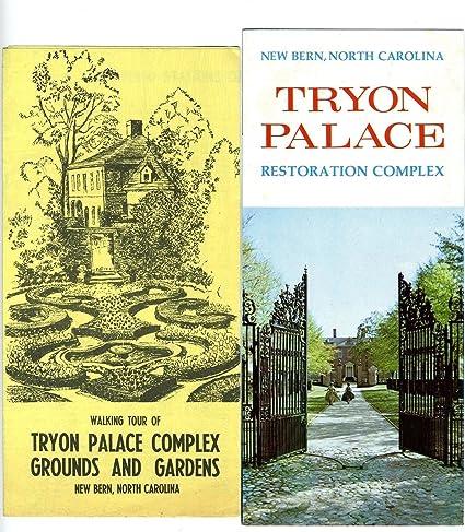 Amazon Tryon Palace Brochure & Walking Tour Map New Bern North