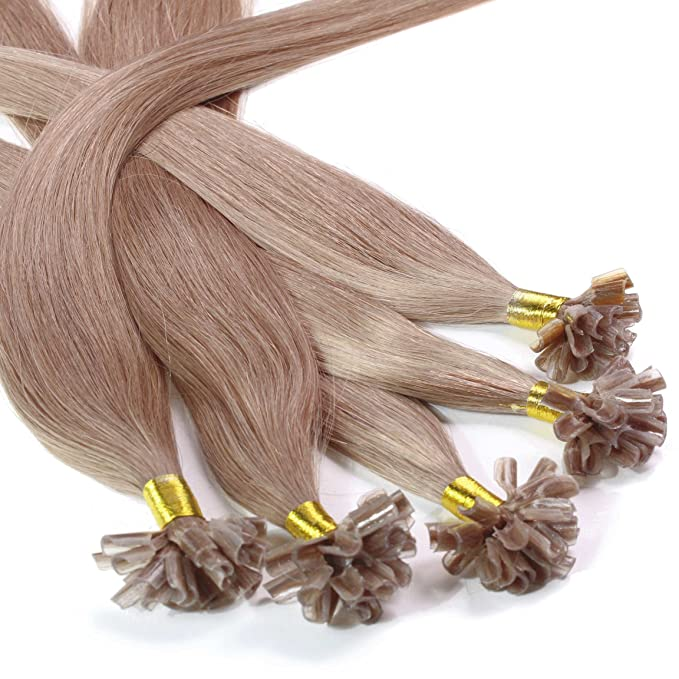Hair2Heart 200 x 0.5g Extensiones de Queratina - 60cm - Liso, Color 10 Marrón Cenizo: Amazon.es: Belleza