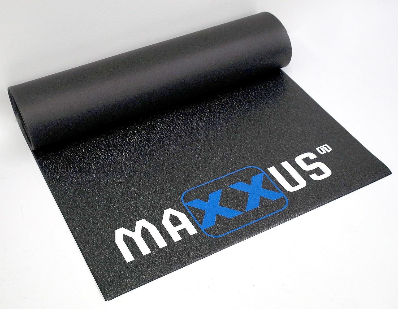 Maxxus Bodenschutzmatte Fitness Gummimatte, Bodenmatte In Schwerer Ausführung - Ideal als Schutzmatte Für Fitnessgeräte, Hantelbank, Rudergerät, Kraftstation, Crosstrainer, Vibrationsplatte etc