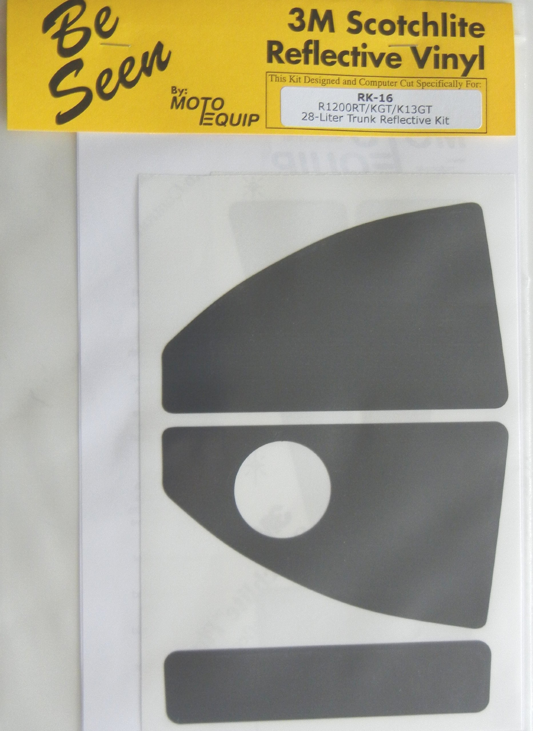 Moto Equip SILVER Reflective Sticker Kit made from 3M Scotchlite Vinyl tape for BMW R1200GS F800GS Alum Adv Trunk Top Case ME-RK-35S