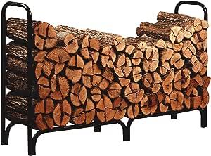 Panacea 15204 Deluxe Outdoor Log Rack, Black, 8-Feet