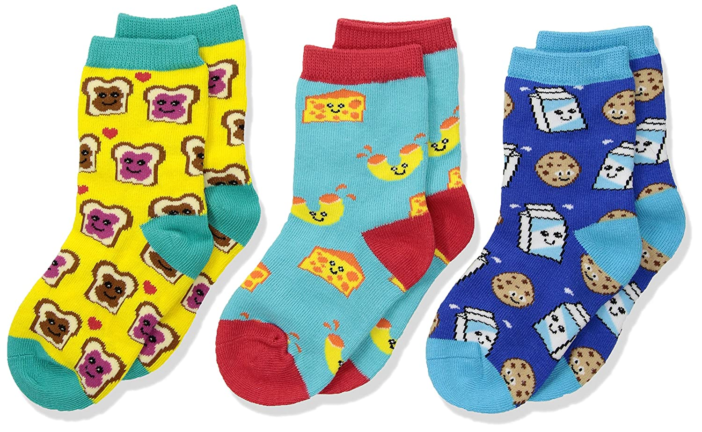Multi Socksmith Kids Novelty Crew Socks 3-packBFF Best Foods Forever