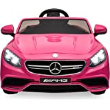 Best Choice Products Ride On Car Kids W/ MP3 Electric Battery Power Parent Remote Control RC Mercedes S63 (Pink)