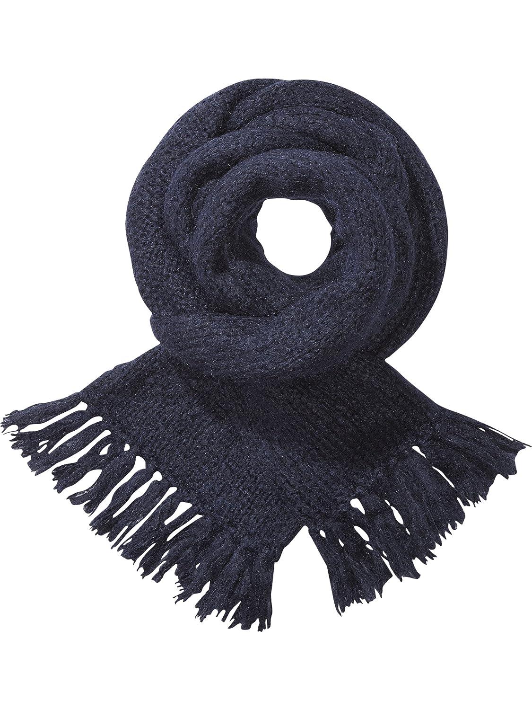 Maison Scotch Damen Umschlagtuch Fluffy oversized knitted scarf