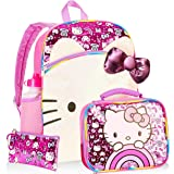 "Hello Kitty Backpack and Lunch Box Set for Kids Boys Girls -- 5 Pc 16"" Kitty Backpack, Lunch Bag, Water Bottle, and More…"
