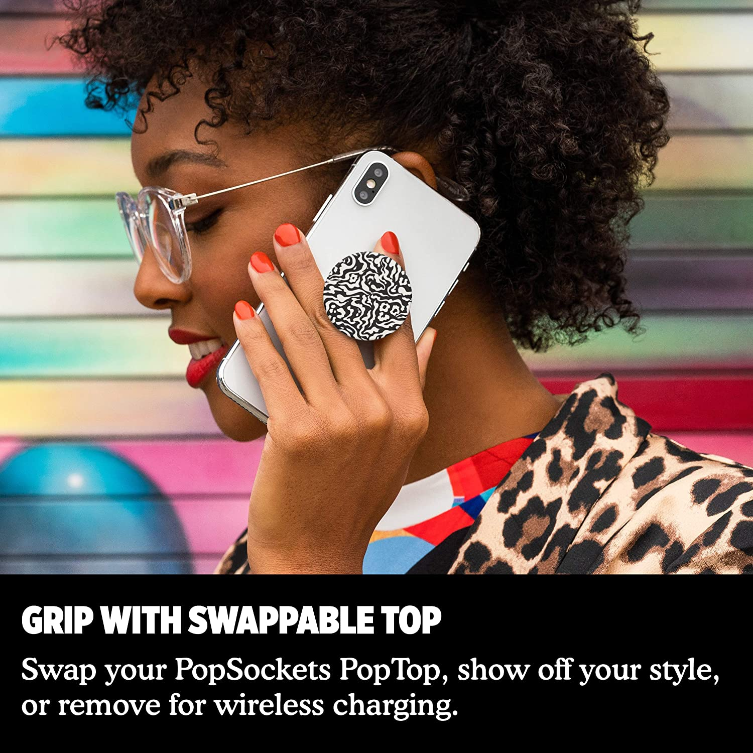 Mono Jungle Expanding Stand and Grip with Swappable Top PopSockets PopGrip