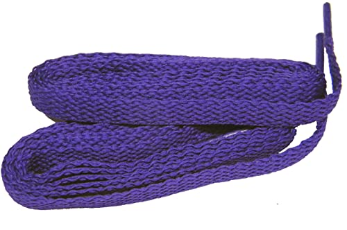 Fashionable Royal Purple 8mm Flat Woven Athletic Shoelaces - 2 Pair Pack (27 Inch 69 cm)