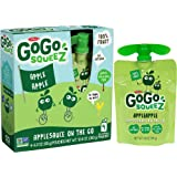 GoGo squeeZ Applesauce on the Go, Apple Apple, 3.2 Ounce Portable BPA-Free Pouches, Gluten-Free, 48 Total Pouches (12 Boxes with 4 Pouches Each)