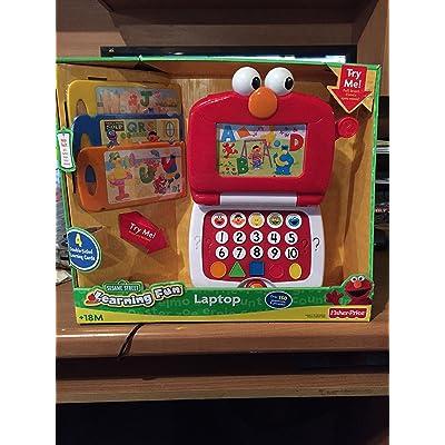 Fisher-Price Sesame Street Elmo's Learning Fun Laptop: Toys & Games