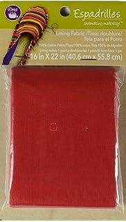 Dritz Espadrilles Lining Fabric, 16