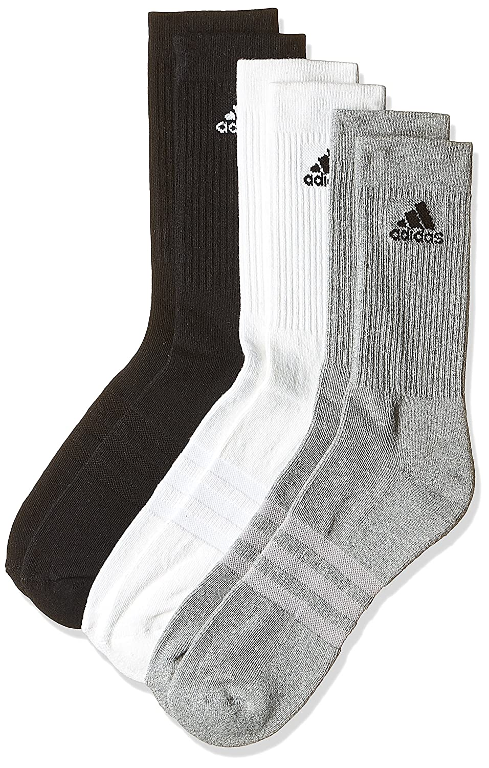 adidas Kids 3-Stripes Performance Crew Socks (pair Of 3): adidas  Performance: Amazon.co.uk: Clothing