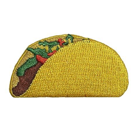 Taco parche – Parche de Velcro con – Emoji parches de velcro para mochilas, sombreros