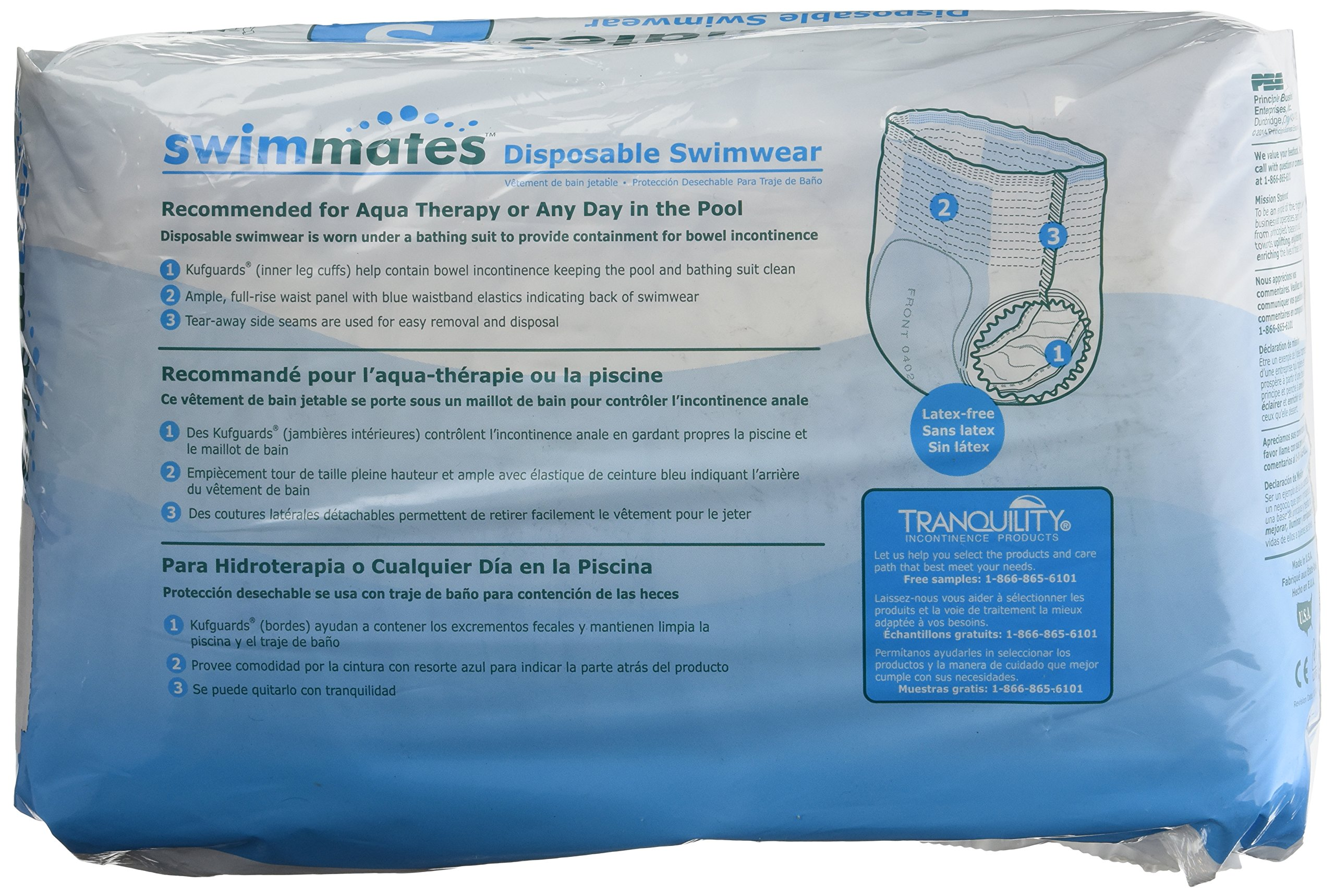 Swimmates Disposable Adult Swim Diapers, Small, 22 by Swimmates (Image #2)