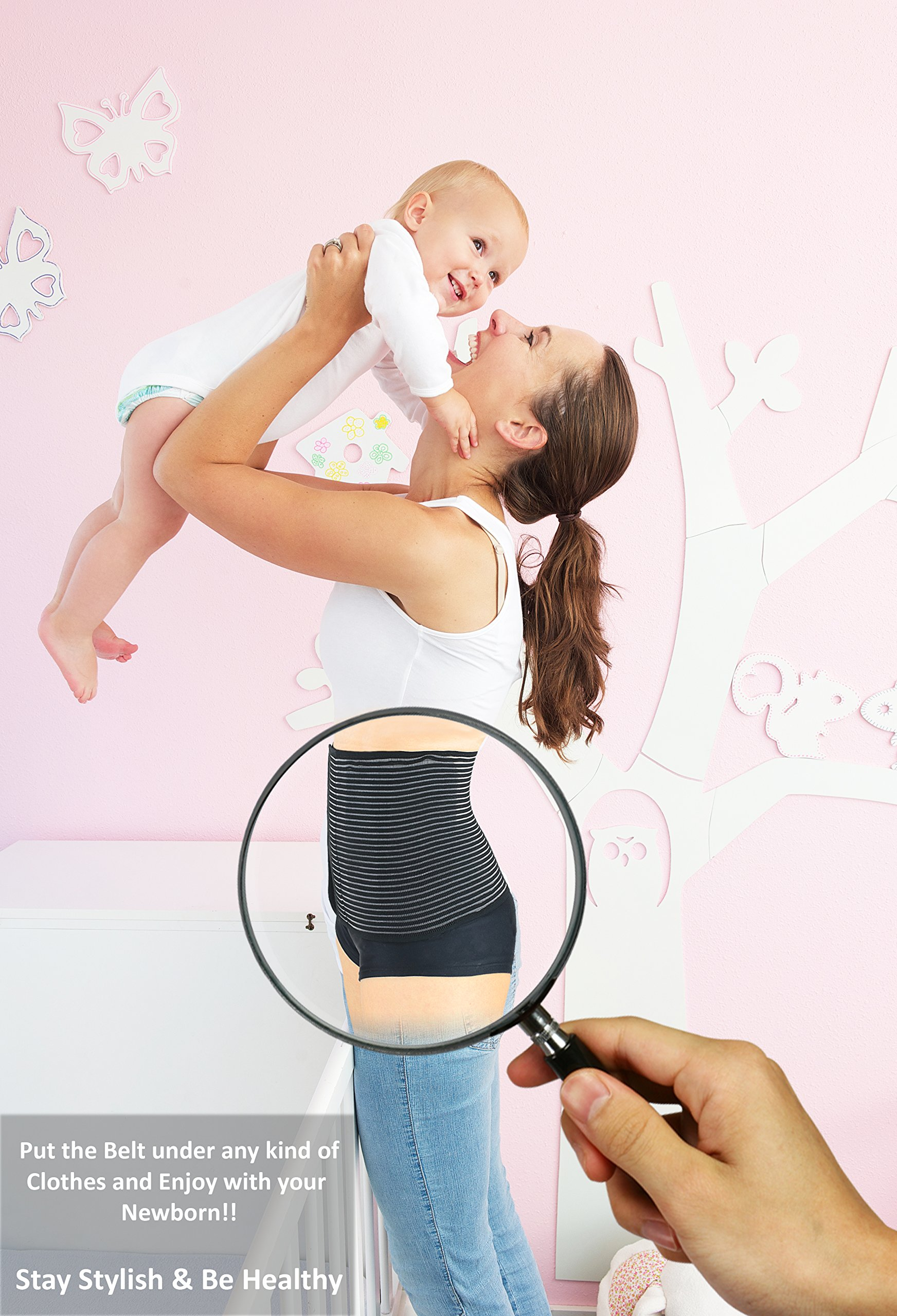 Luxe-Phillips Hospital Grade Postpartum Belly Wrap with Breathable Technology. Active Compression Quickly Reduces The Size of The Uterus Post Pregnancy for Faster Slimming Results. (Large) by Luxe-Phillips (Image #2)