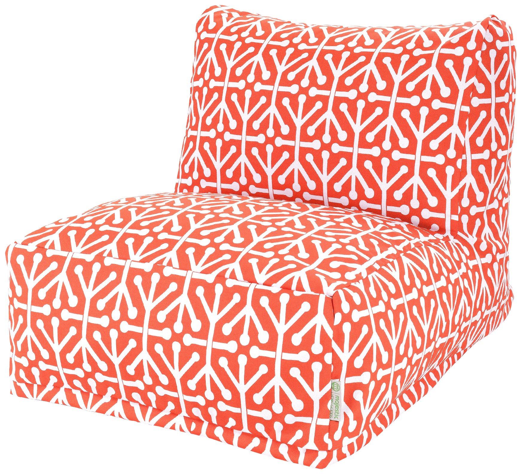 Majestic Home Goods Aruba Bean Bag Chair Lounger, Orange