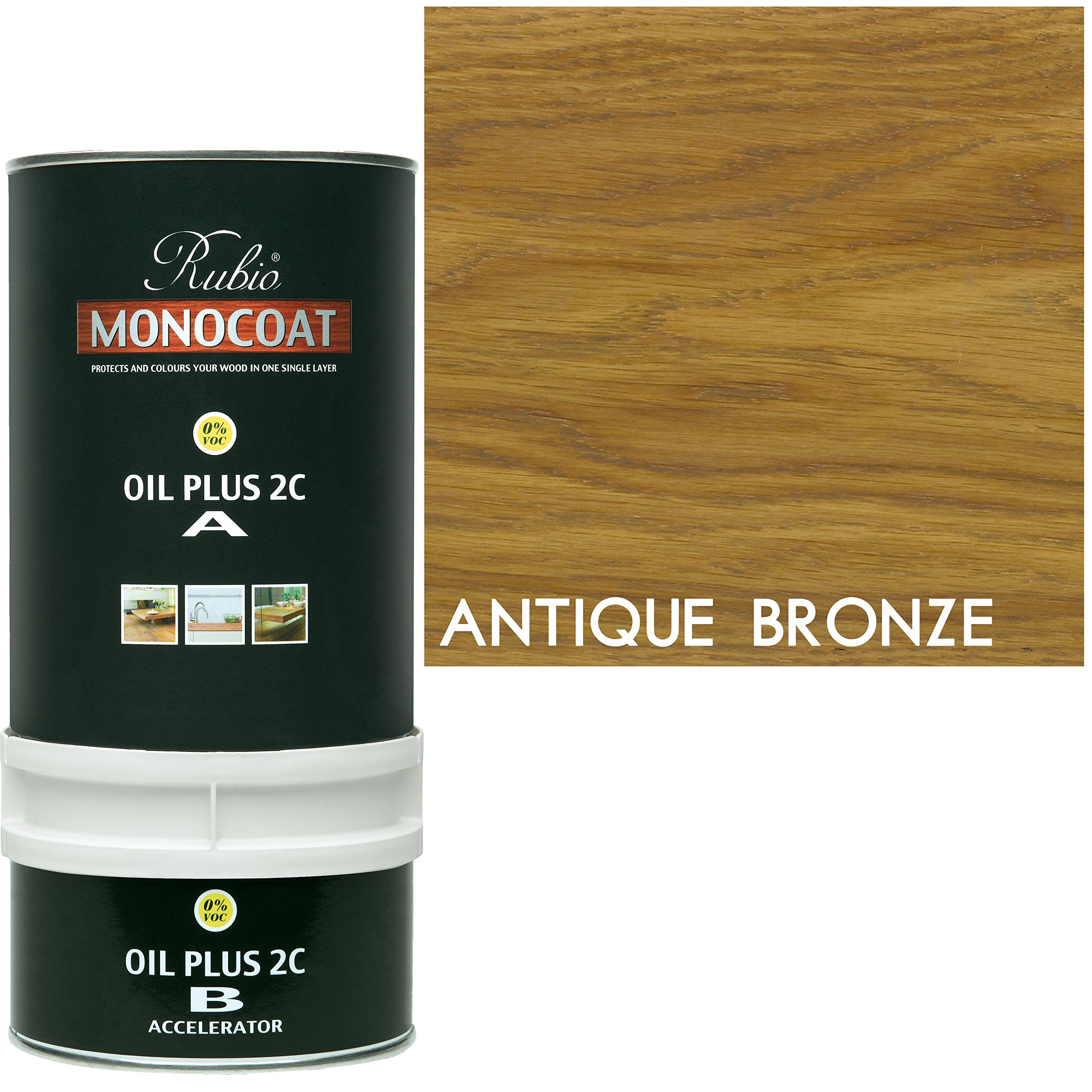 Rubio Monocoat Wood Stain Oil Plus 2C Antique Bronze 350 ml