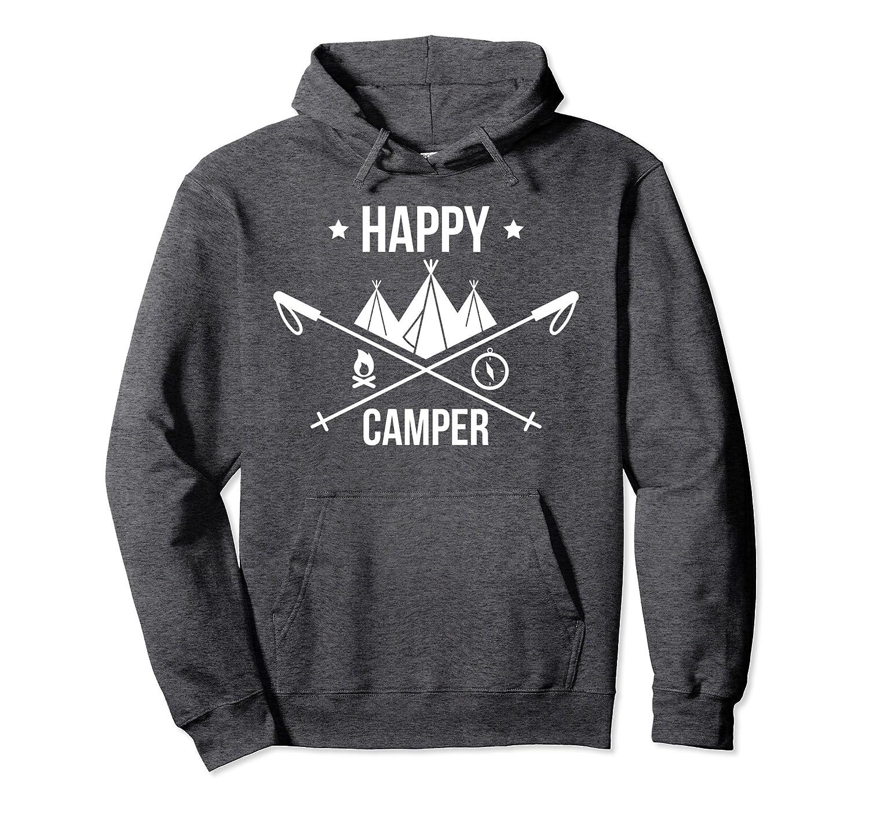 Happy Camper Hoodie Camping and Hiking Shirt-Awarplus