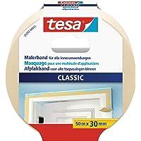 tesa Masking Tape CLASSIC, Beige, 50m x 30mm