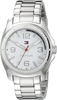 Tommy Hilfiger Mens 1791213 Tommy Sport Analog Display Quartz Silver Watch