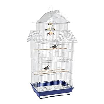 0c05cbd6648f Granada de selva Medio Libre De Jaula para Pájaros con Happy Swing Toy:  Amazon.es: Productos para mascotas