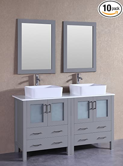 Bosconi Agr230rc 60 Classic Double Vanity Set With