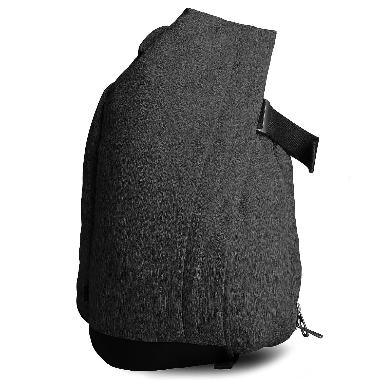 Cai(カイ) バックパック ディーバッグ 大容量 人気 おしゃれ 撥水加工 15.6インチ Macbookが収納でき スポーツ 通勤通学 旅行 バレンタイン ギフト メンズ レディース (P-5404) B01JS4496Y ブラック ブラック