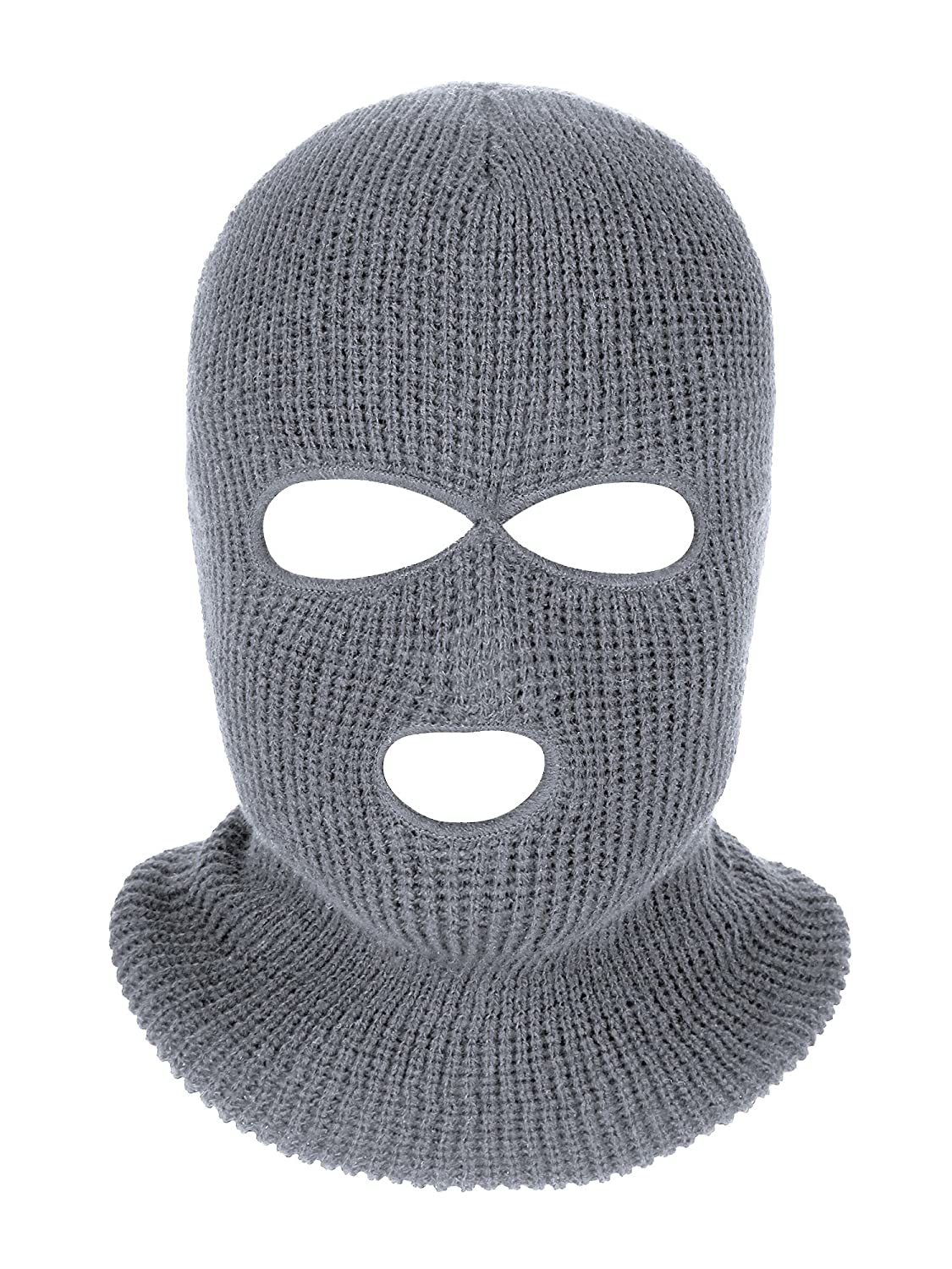 Satinior 3 Hole Knitted Full Face Cover Ski Mask Adult Winter Balaclava Warm Knit Full Face Mask for Outdoor Sports