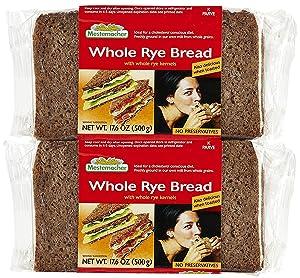 Mestemacher Whole Rye Bread, 17.6 oz, 2 pk