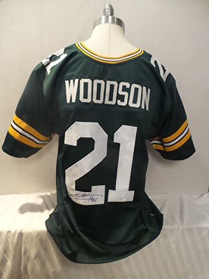 timeless design 8b90c 6a8b7 Charles Woodson Signed Green Bay Packers Green Autographed ...