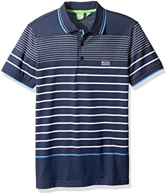 ed3efa44 Amazon.com: BOSS Green Men's Paule 2 Striped Short Sleeve Polo Shirt ...