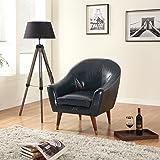Divano Roma Furniture - Mid Century Modern Chair - Bonded Leather