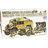 Tamiya 300035044–1: 35WWII British 25pdr Field Gun with Car (1)