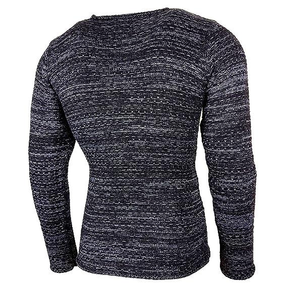 Rusty Neal Strickpullover Herren Winter Grobstrick Pullover Sweatshirt RN- 13269: Amazon.de: Bekleidung