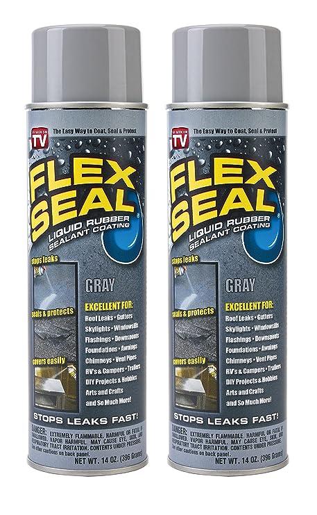 Spray Rubber Seal >> Flex Seal Spray Rubber Sealant Coating 14 Oz Gray 2 Pack