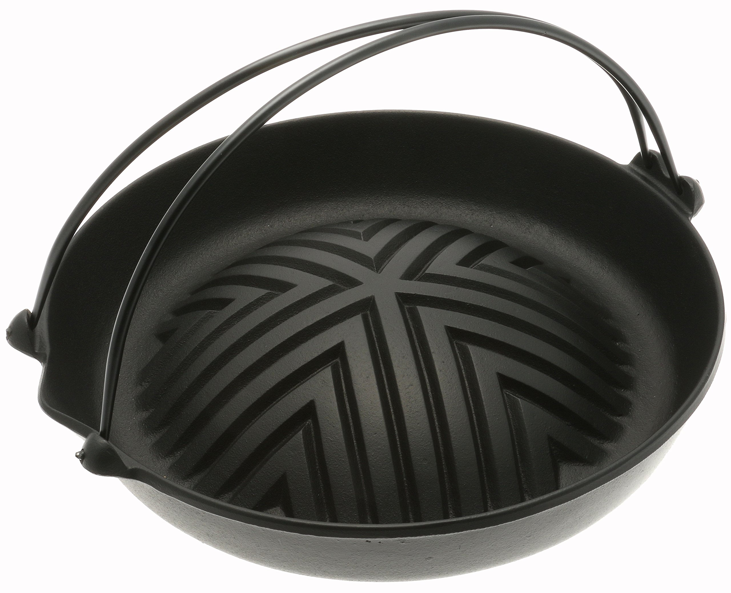 Iwachu Cast Iron Genghis Khan Grill Pan, Black by Iwachu