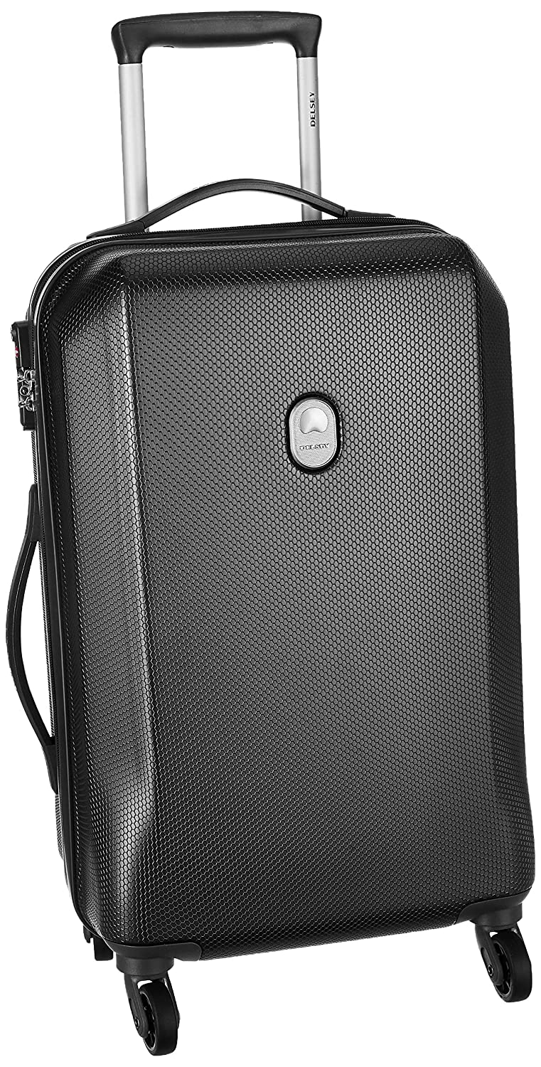 Delsey ABS 55 cms Black Hardsided Cabin Luggage (00345080100)