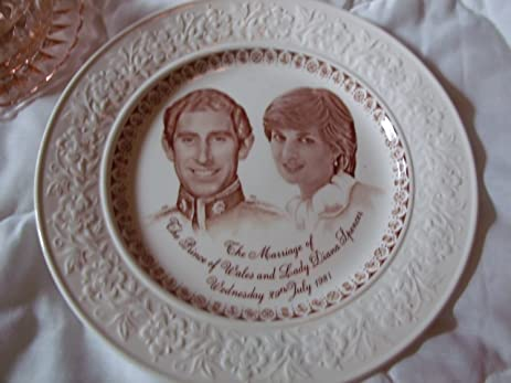 Staffordshire English Ironstone Tableware the Wedding of Charles and Diana Plate  sc 1 st  Amazon.com & Amazon.com : Staffordshire English Ironstone Tableware the Wedding ...