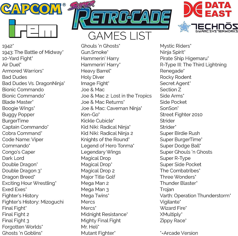 Amazon.com: Retro-Bit Super Retro-Cade Plug and Play Game ...