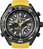 Timex Intelligent Quartz Men's Altimeter Watch with Black Dial Analogue Display and Yellow Rubber - T2N730