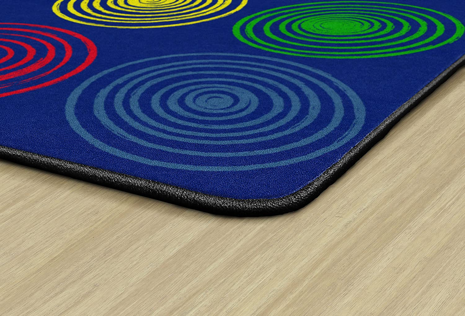 6x84 Rectangle Childrens Classroom Seating Rug Seats 20 Flagship Carpets FE413-32A Circles Grey /& Multi