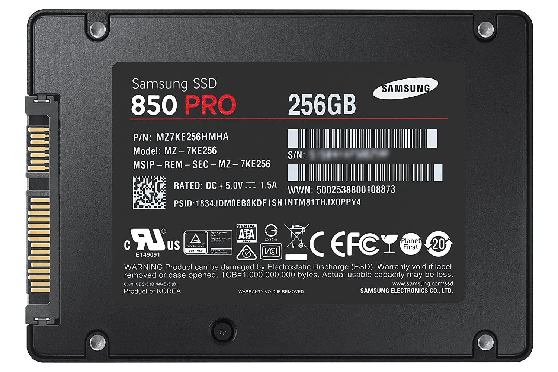negro Samsung 850 Pro MZ-7KE512BW Disco duro s/ólido interno SSD de 512 GB