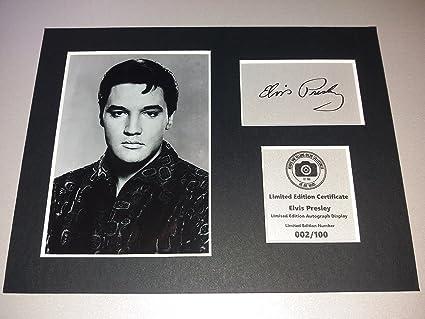 Havoc Elvis Presley - Visualización de autógrafo firmada, montado y ...