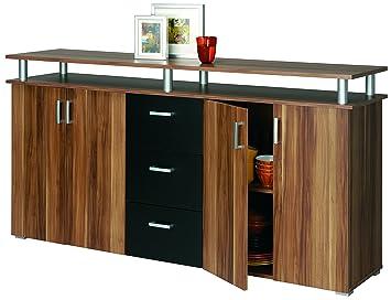 Sideboard nussbaum schwarz  Swift Anrichte Sideboard Kommode Schrank Schwarz / Noce: Amazon.de ...