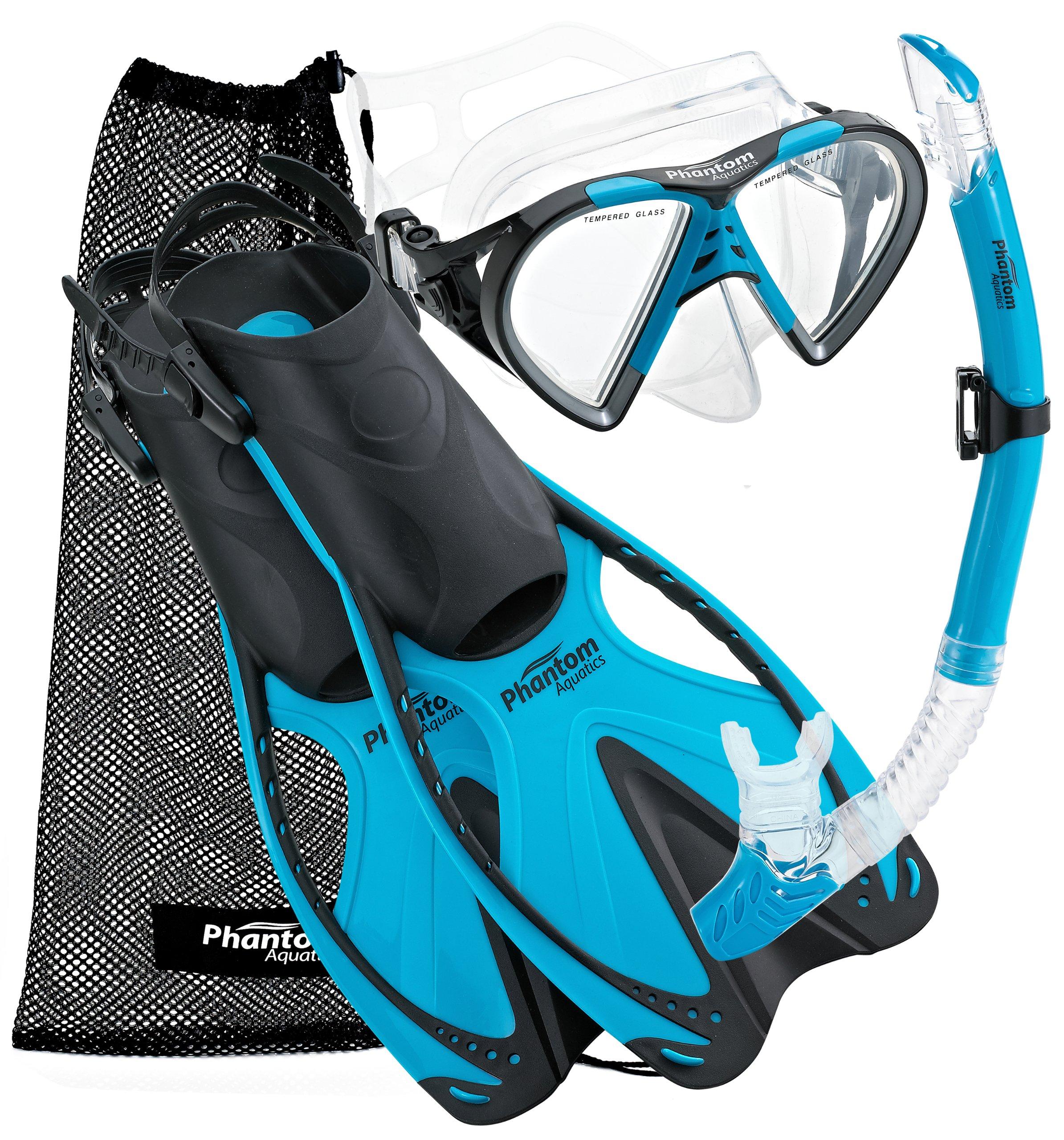 Phantom Aquatics Speed Sport Mask Fin Snorkel Set, Adult by Phantom Aquatics