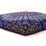 indiano cuscini quadrati cuscino boho pavone Mandala ottomano federe casi oversize Daybed letto Outddor venduto da handicraft-palace