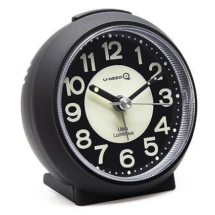 U NeedQ Matte Colorful Non Ticking Analog Quartz Alarm