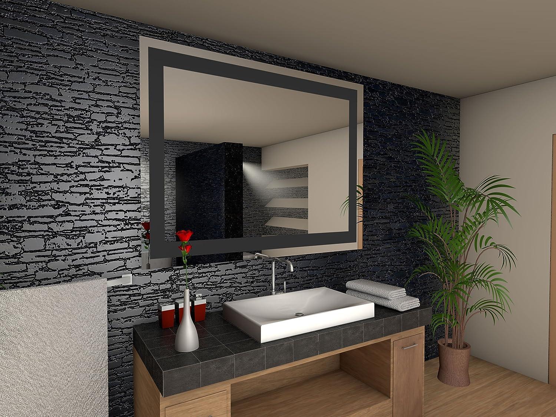 Toulon Badspiegel mit LED Beleuchtung Beleuchtung Beleuchtung - B  80 cm x H  90 cm 760bee